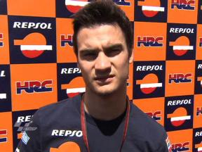 Pedrosa on riding through the pain