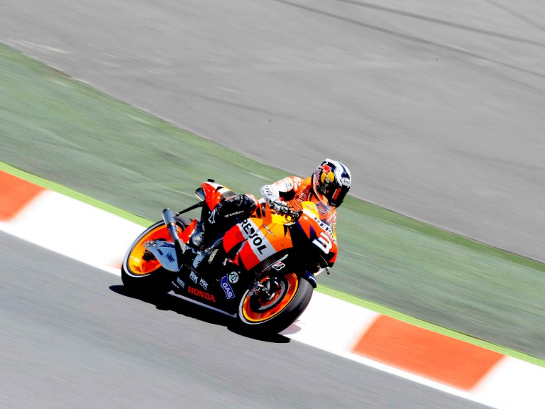 Dani Pedrosa in action in Montmeló