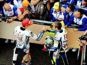 Valentino Rossi vs team mates