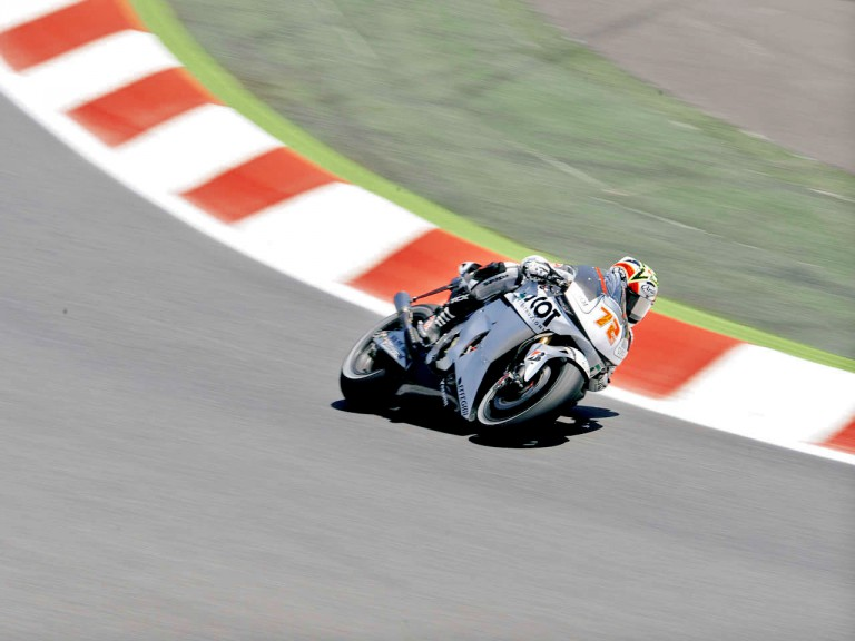 Yuki Takahahsi in action in Montmeló