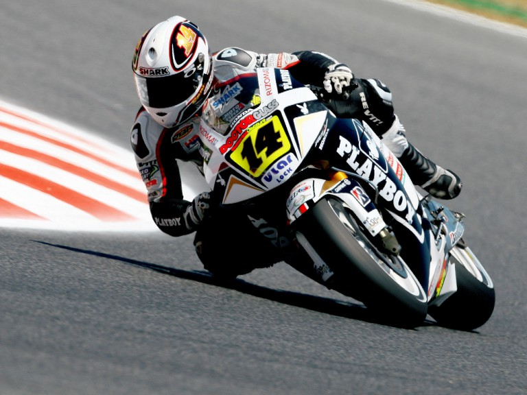 Randy de Puniet in action in Montmeló