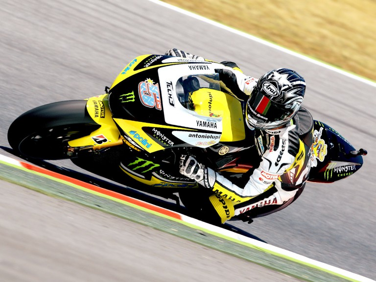 Colin Edwards in action in Montmeló