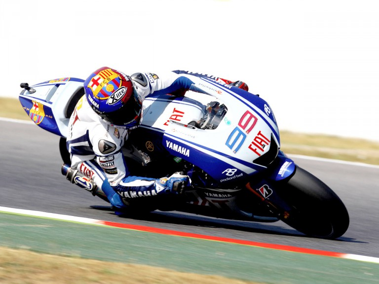 Jorge Lorenzo in action in Montmeló