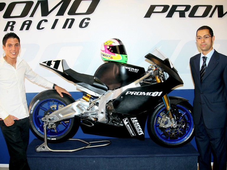 Aleix Espargaró at Promo Racing Moto2 presentation