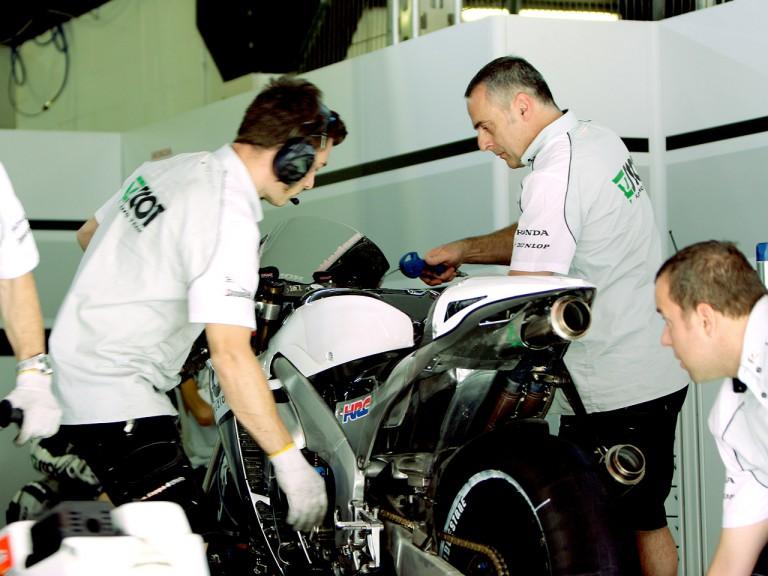 Mechanics crew at the Scot Racing garage