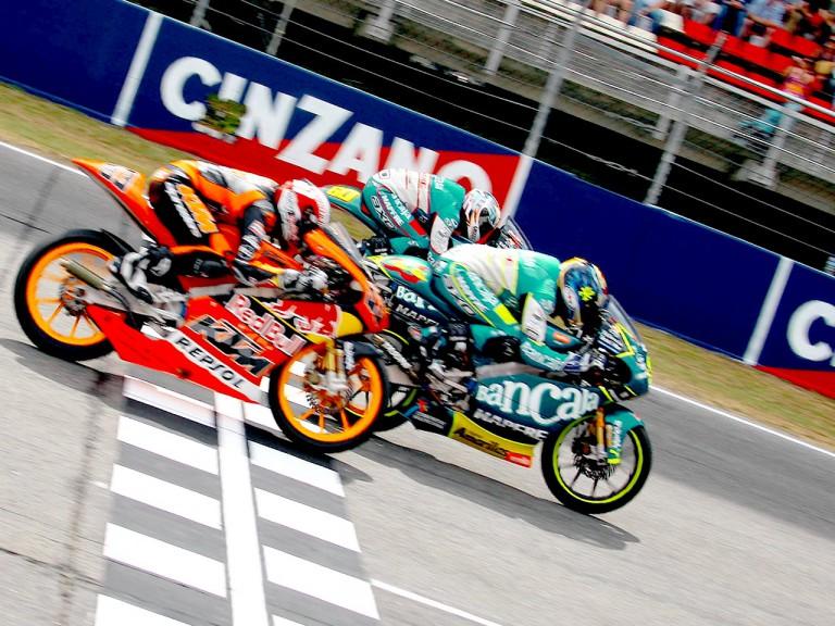 Sergio Gadea ends 125cc Catalunya race ahead of Julian Simon and Marc Marquez