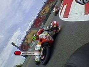 Marco Simoncelli crash during race in Catalunya