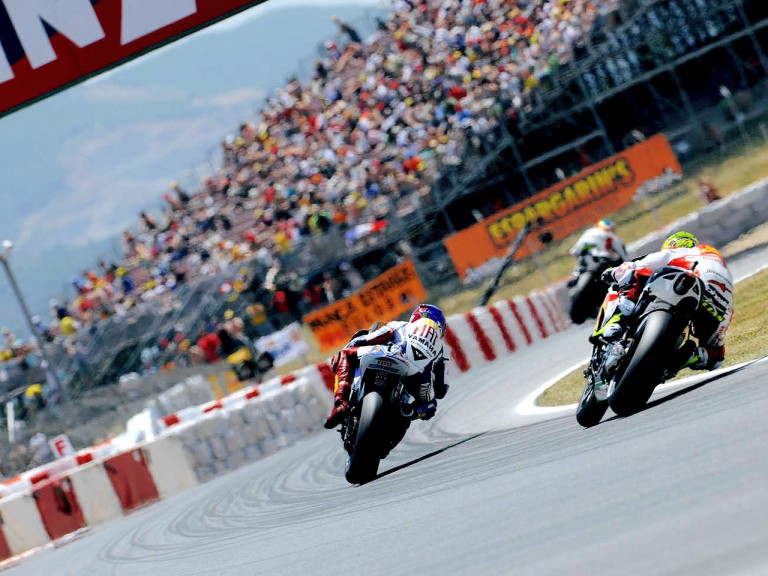 MotoGP Group in action in Montmeló
