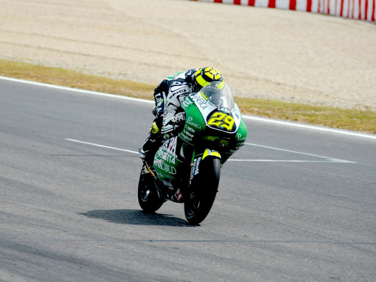 Andrea Iannone in action in Montmeló