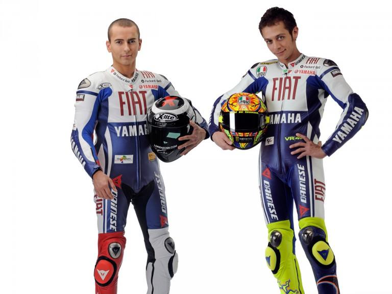 Yamaha´s Jorge Lorenzo and Valentino Rossi
