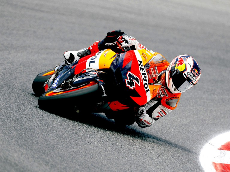 Andrea Dovizioso in action in Montmeló