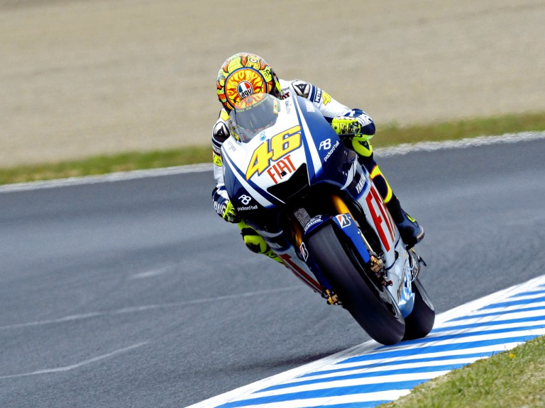Valentino Rossi in action in Motegi