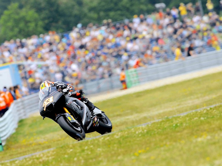 Marco Melandri in action in Assen