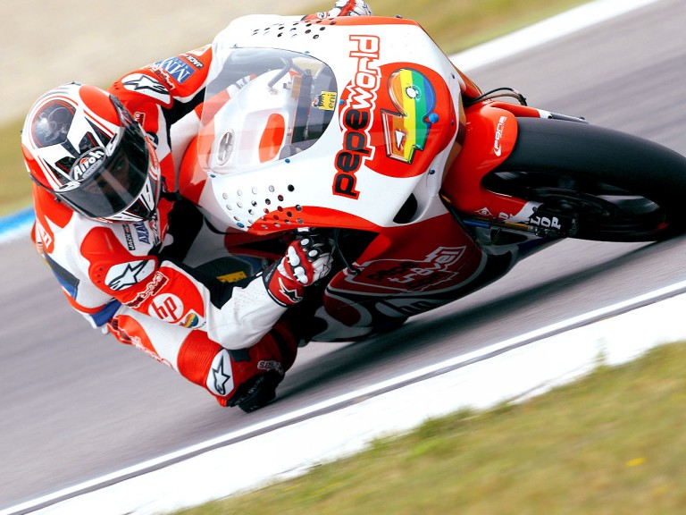 Héctor Barberá in action in Assen