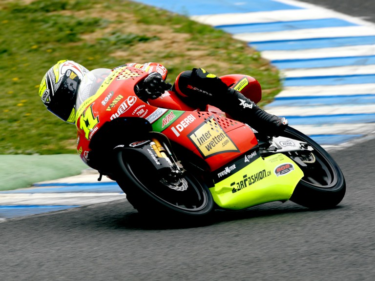 Sandro Cortese in action at the Official Test in Jerez