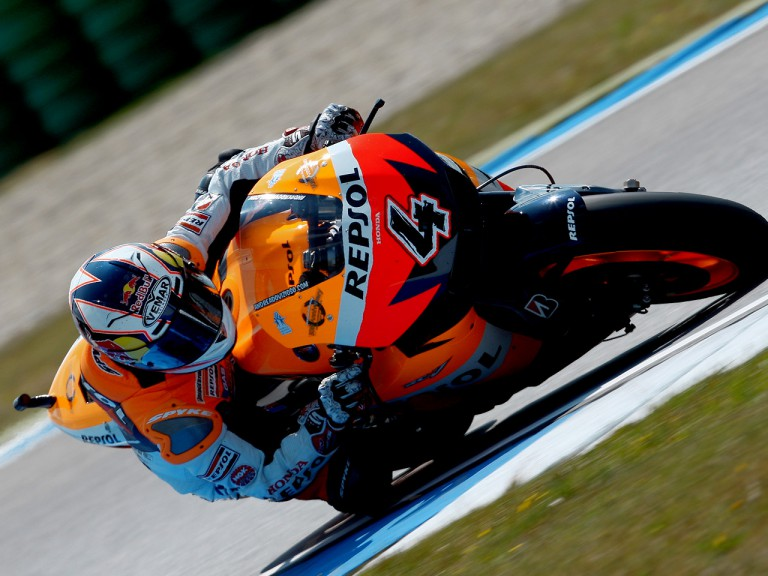 Andrea Dovizioso in action in Assen