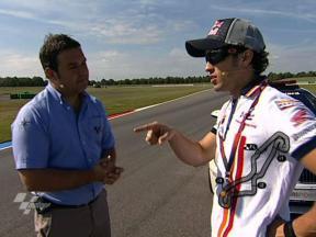 Andrea Dovizioso's tour of Assen
