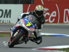 Jurgen van den Goorbergh in Moto2 run-out