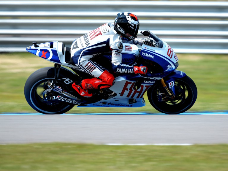 Jorge Lorenzo in action in Assen