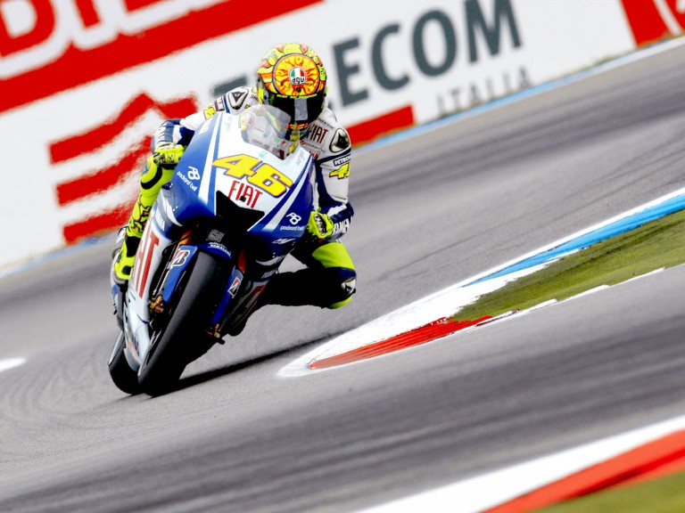 Valentino Rossi in action in Assen