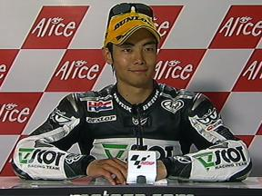 Hiroshi Aoyama interview after race in Assen