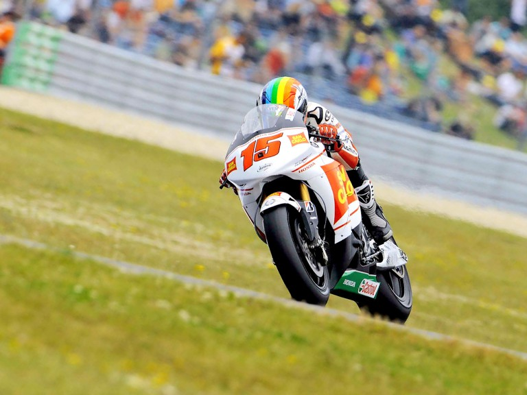 Alex de Angelis in action in Assen
