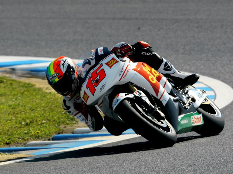 Alex de Angelis in action in Motegi