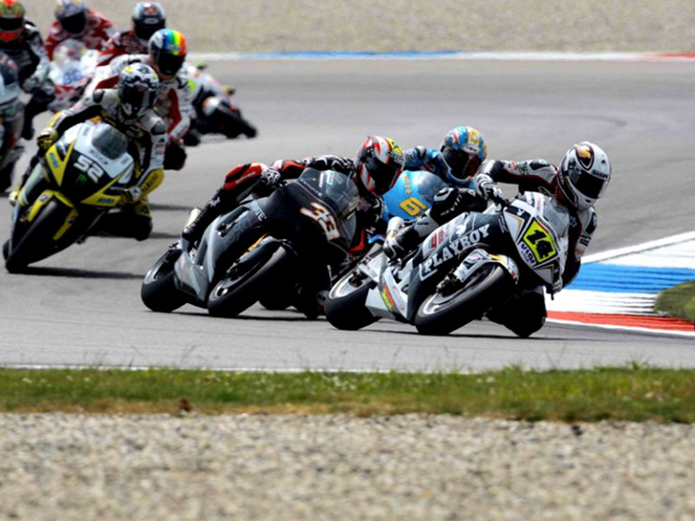Randy de Puniet riding ahead of MogoGP group in Assen