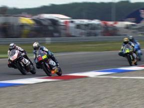Simon, Terol and Gadea during race in Assen