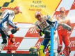 Valentino Rossi, Jorge Lorenzo and Casey Stoner celebrating podium in Assen