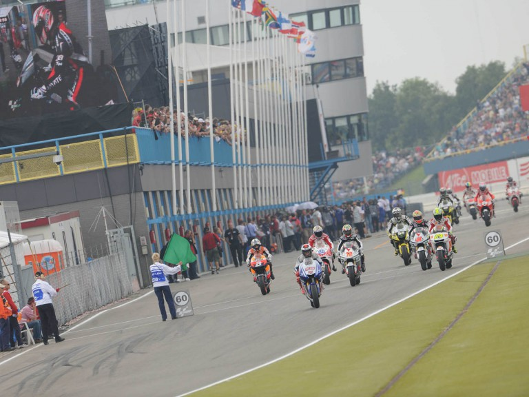 Riders leaving the pitlane