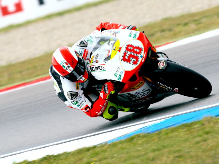 Marco Simoncelli in action in Assen
