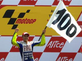Rossi's road to 100 GP wins: the MotoGP reign