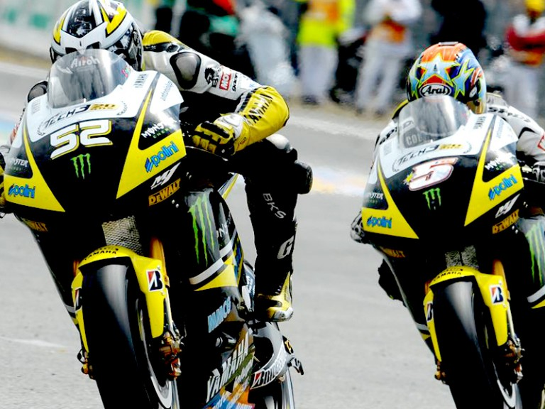 James Toseland and Colin Edwards in action
