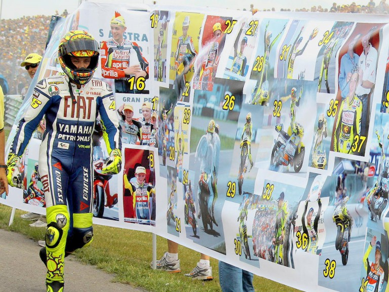 Rossi's celebration of a century of GP wins
