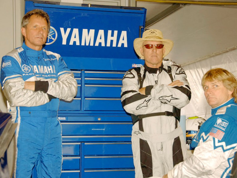MotoGP Legends Lawson, Roberts Snr and Rainey at Laguna Seca