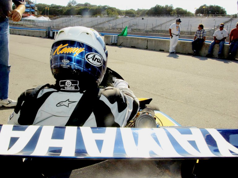 Kenny Roberts Senior drives Superkart at Laguna