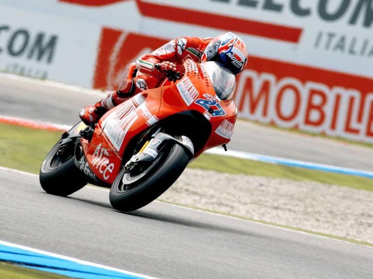 Casey Stoner in action in Assen