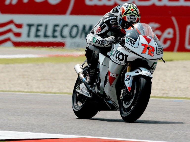 Yuki Takahashi in action in Assen