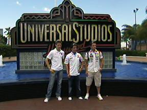 MotoGP trio at Universal Studios Hollywood