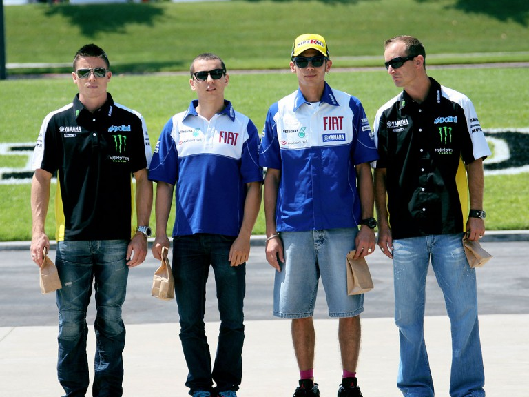 Yamaha riders take part in corporate filming at the YMC HQ