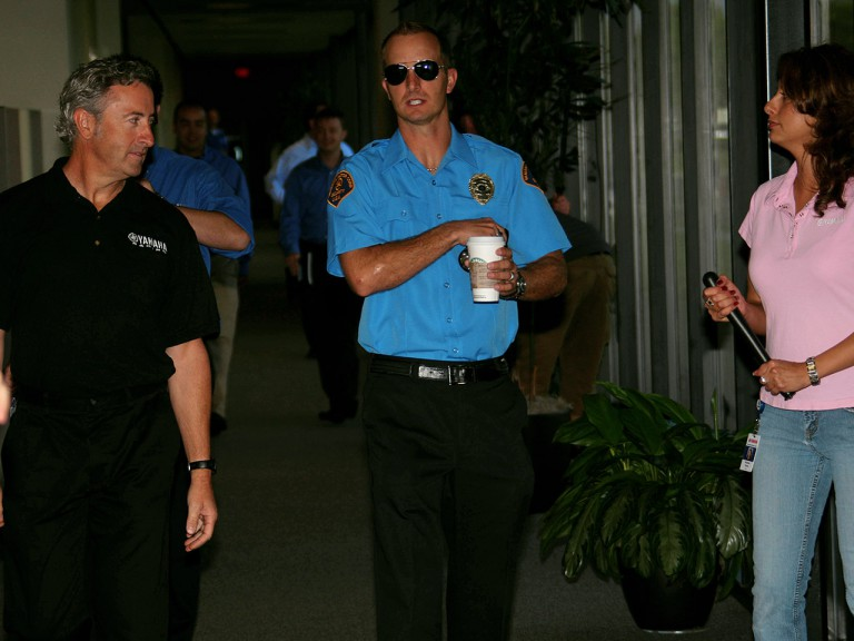 Colin Edwards at the Yamaha Motor Company headquarters