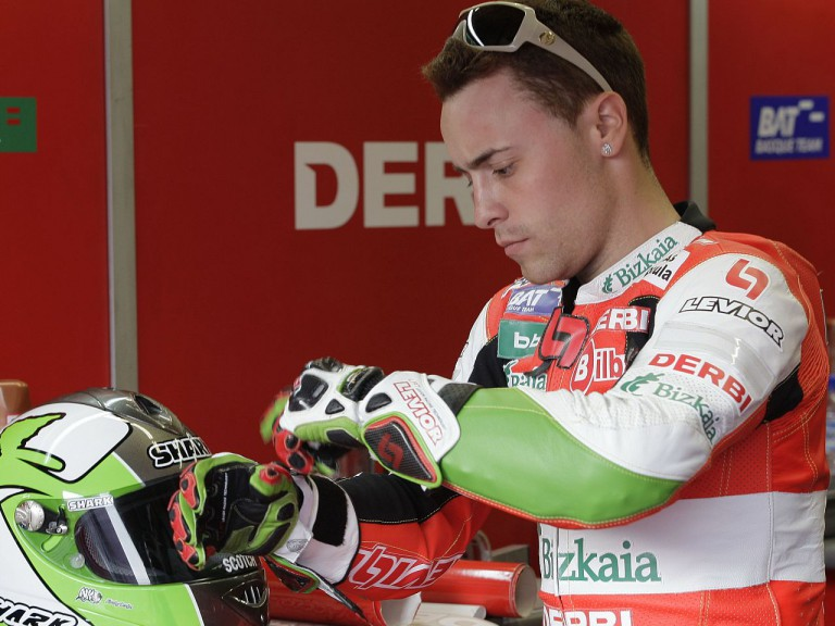 Efrén Vázquez in the Derbi Racing garage