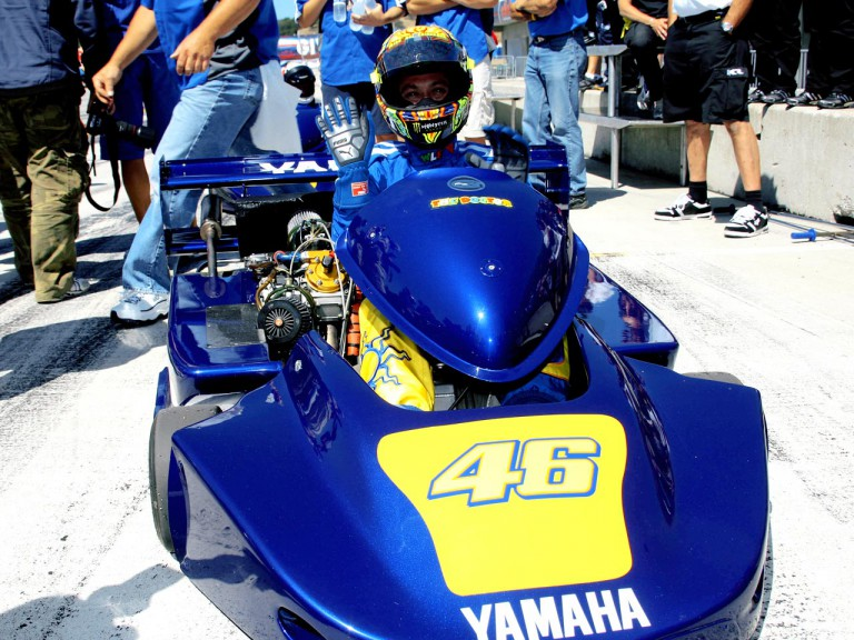 valentino Rossi in Superkart at Laguna