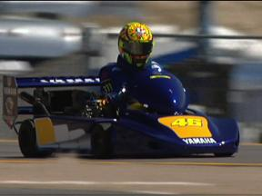 Lawson, Rainey, Roberts Sr and Rossi in Laguna SuperKart action