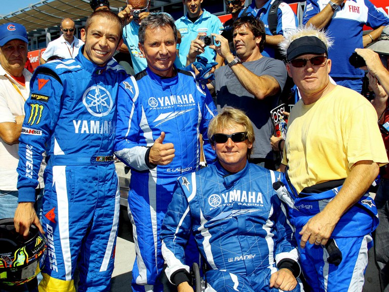 Lawson, Rainey, Roberts and Rossi in SuperKart at Laguna