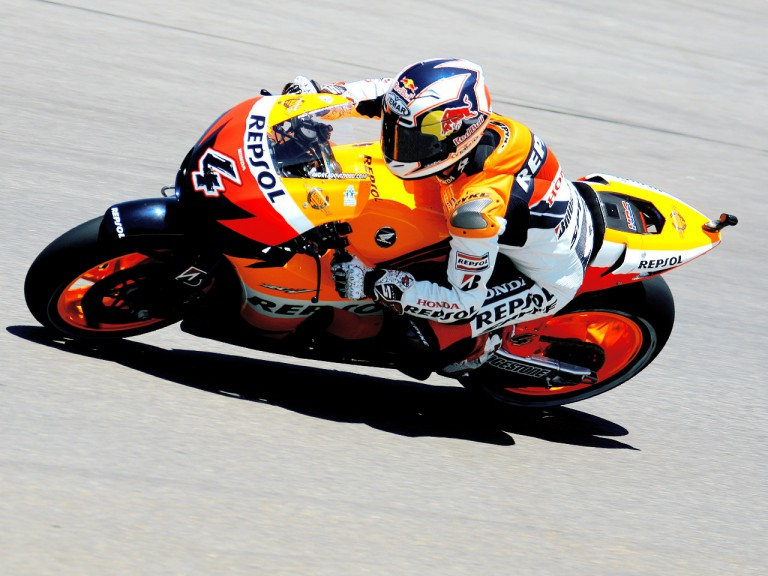 Andrea Dovizioso in action at the Red Bull U.S. Grand Prix