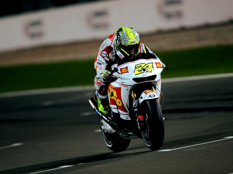 Toni Elias in action in Qatar