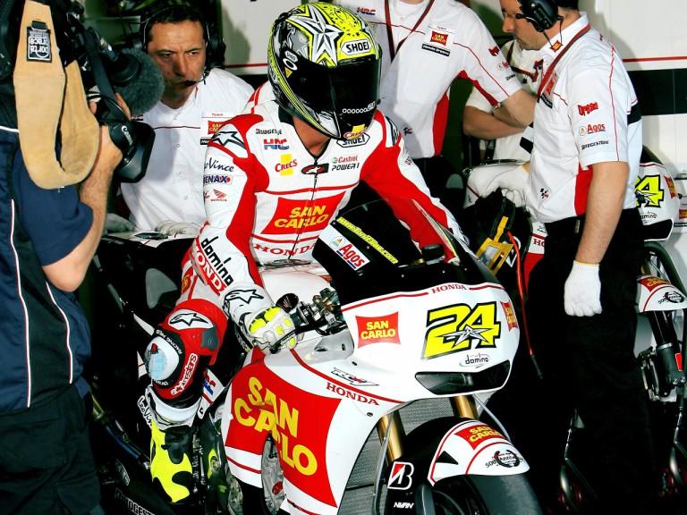 Toni Elias set to leave the San Carlo Honda garage
