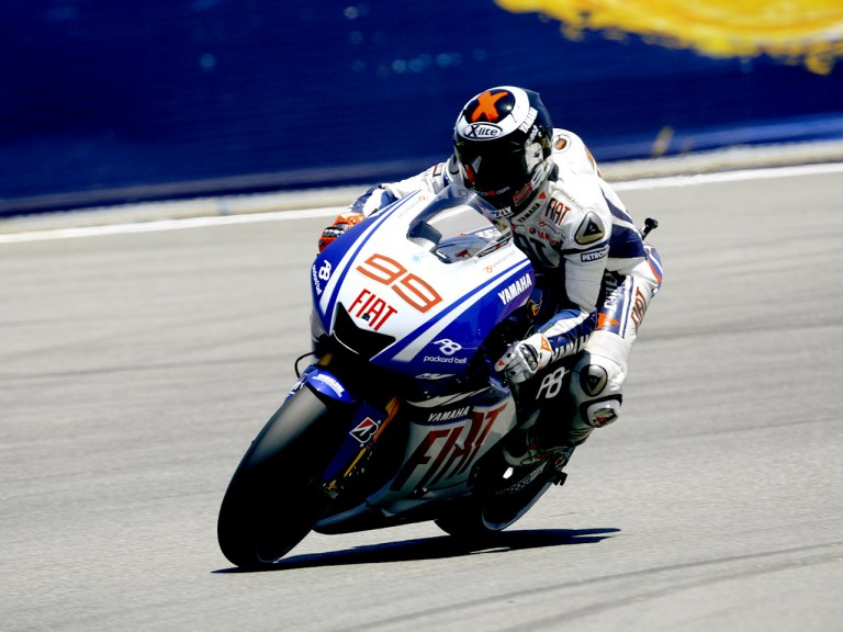 Jorge Lorenzo in action at the Red Bull U.S. Grand Prix